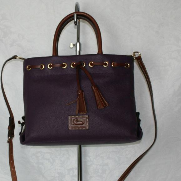 Dooney & Bourke Handbags - DOONEY AND BOURKE WAKEFIELD TASSEL TOTE PLUM WINE